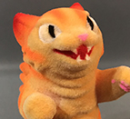 Flocked mini Kaiju Negora Orange style