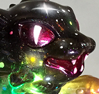 Custom painted Sunset & Stars kaiju Negora Mark Nagata