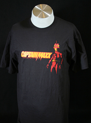 Captain Maxx Black Tee shirt - 2 Ex Large Size