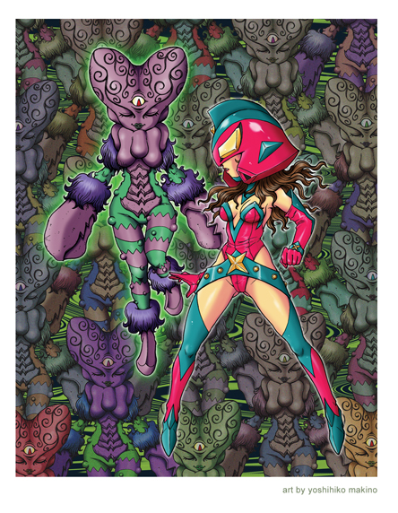 Yoshihiko Makino Lady Maxx print Max Toy 5th Anniversary