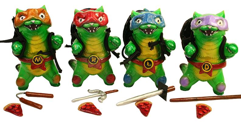 Ninja Cat Turtles customs Mike Mark Nagata