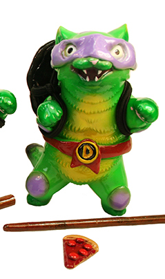 Ninja Cat Turtles customs Don Mark Nagata