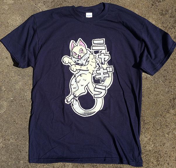 Nyagira Kaiju Cat Tshirt Javier Jimenez Medium
