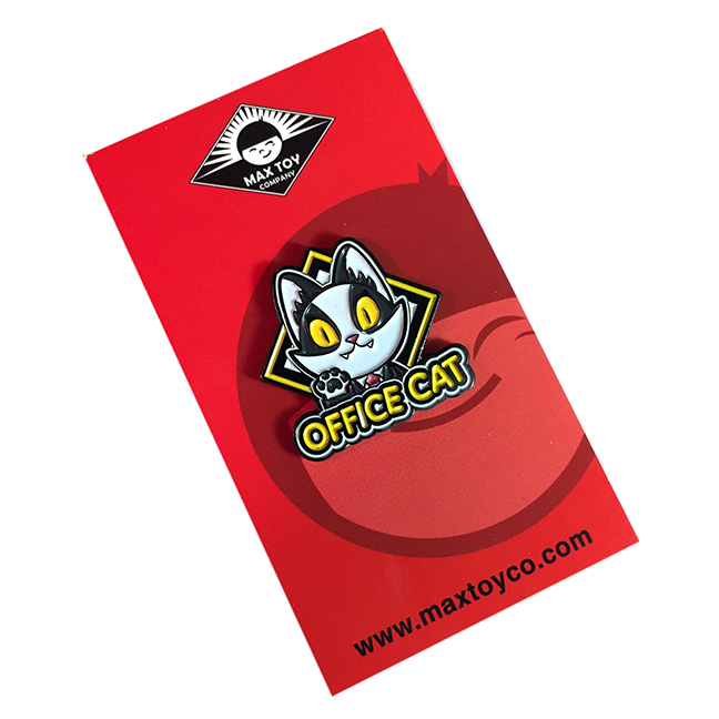 Office Cat soft enamel pin Version 1