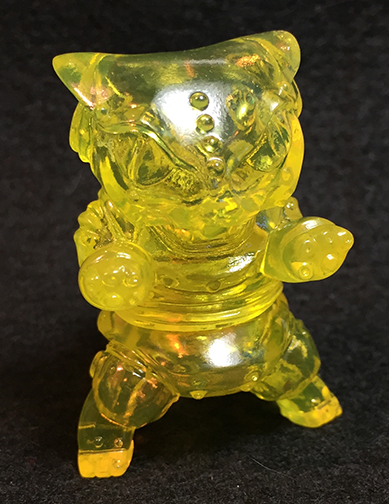 Mecha Kaiju Nekoron micro clear yellow
