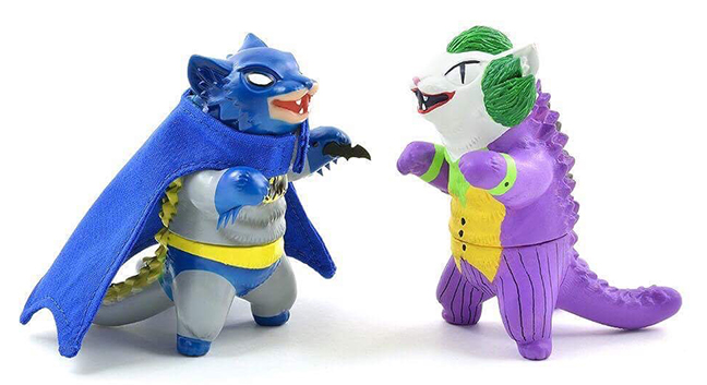 Bat Cat vs Joking Cat Negora custom set Nagata / Shifty collab