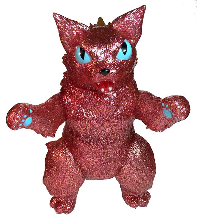 Kaiju Cat King Negora red glitter version