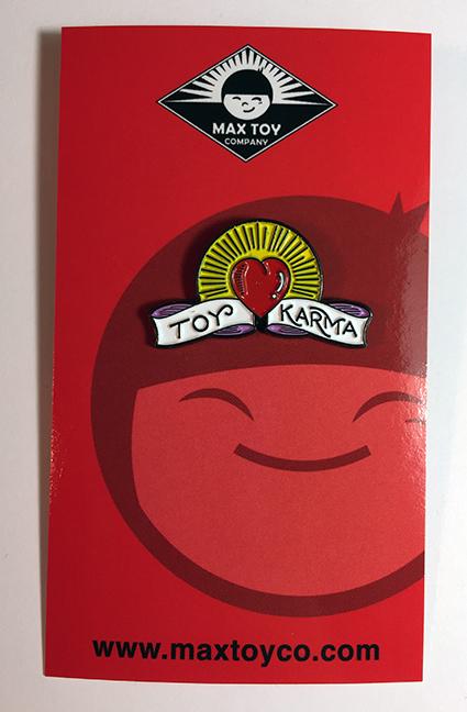 Toy Karma pin Max Toy x Doug Hardy