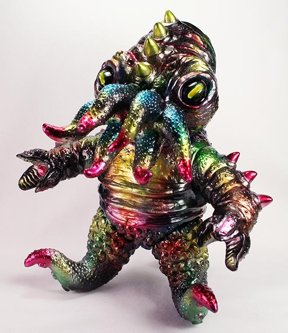 Custom Metallic painted Kaiju TriPus by Mark Nagata One Off