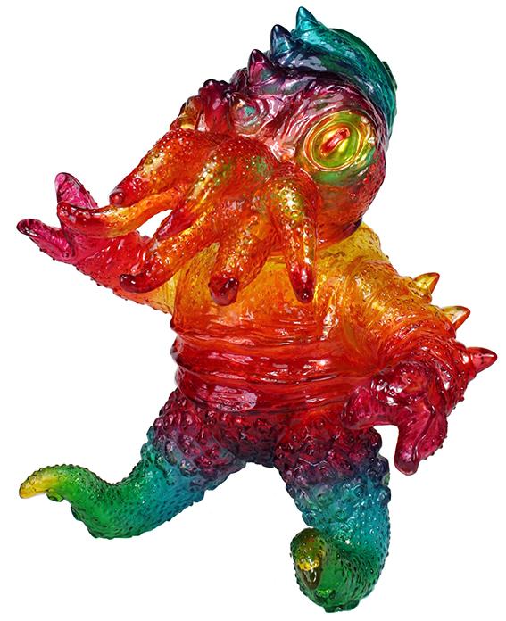 Custom Kaiju TriPus Clear vinyl Rainbow style Mark Nagata
