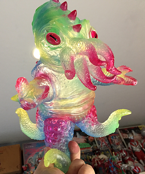 Kaiju TriPus (2.0) Clear sofubi colorway version