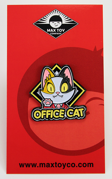 Office Cat Calico soft enamel pin Version 2 Javier Jimenez