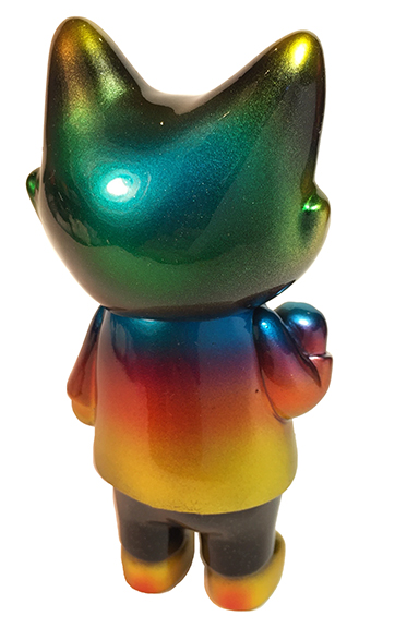 Office Cat Rainbow Silver eyes custom Mark Nagata