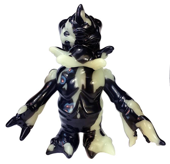 Kaiju TriPasu TriPus Max Toy Marbled GID Black vinyl