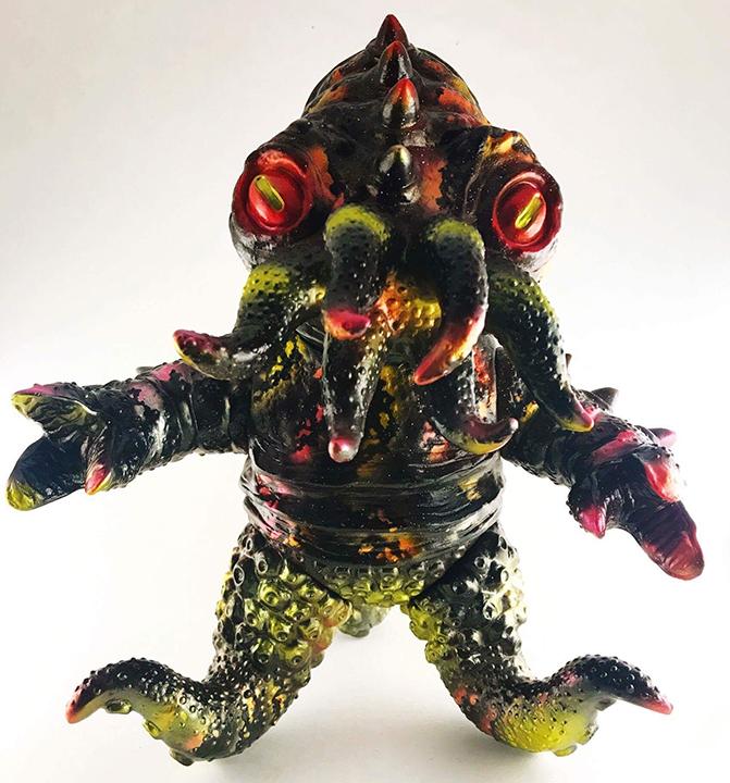 Nebula Kaiju TriPus customs painted by Michael Devera / Obsessed Panda