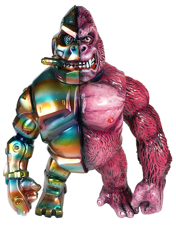 Custom painted Crusher G Mecha Kaiju Ape PINK Mark Nagata