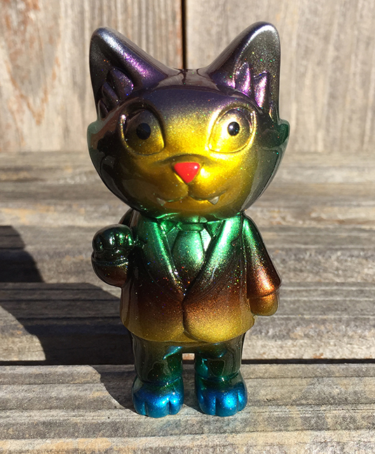 Custom Office Cat Metallic Mark Nagata blue feet