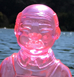 Sofubi-man Clear Pink version unpainted 3rd release