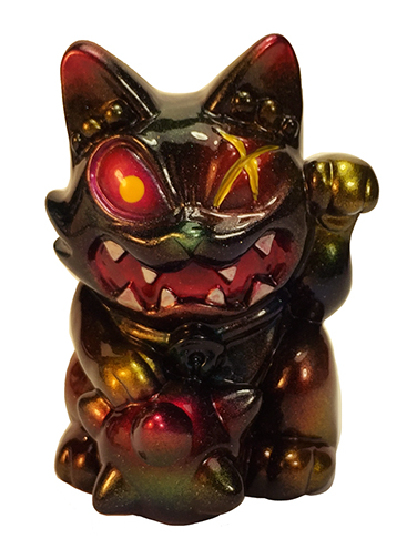 Javier Jimenez Maneki Wananeko custom Pink eye version painted by Mark Nagata