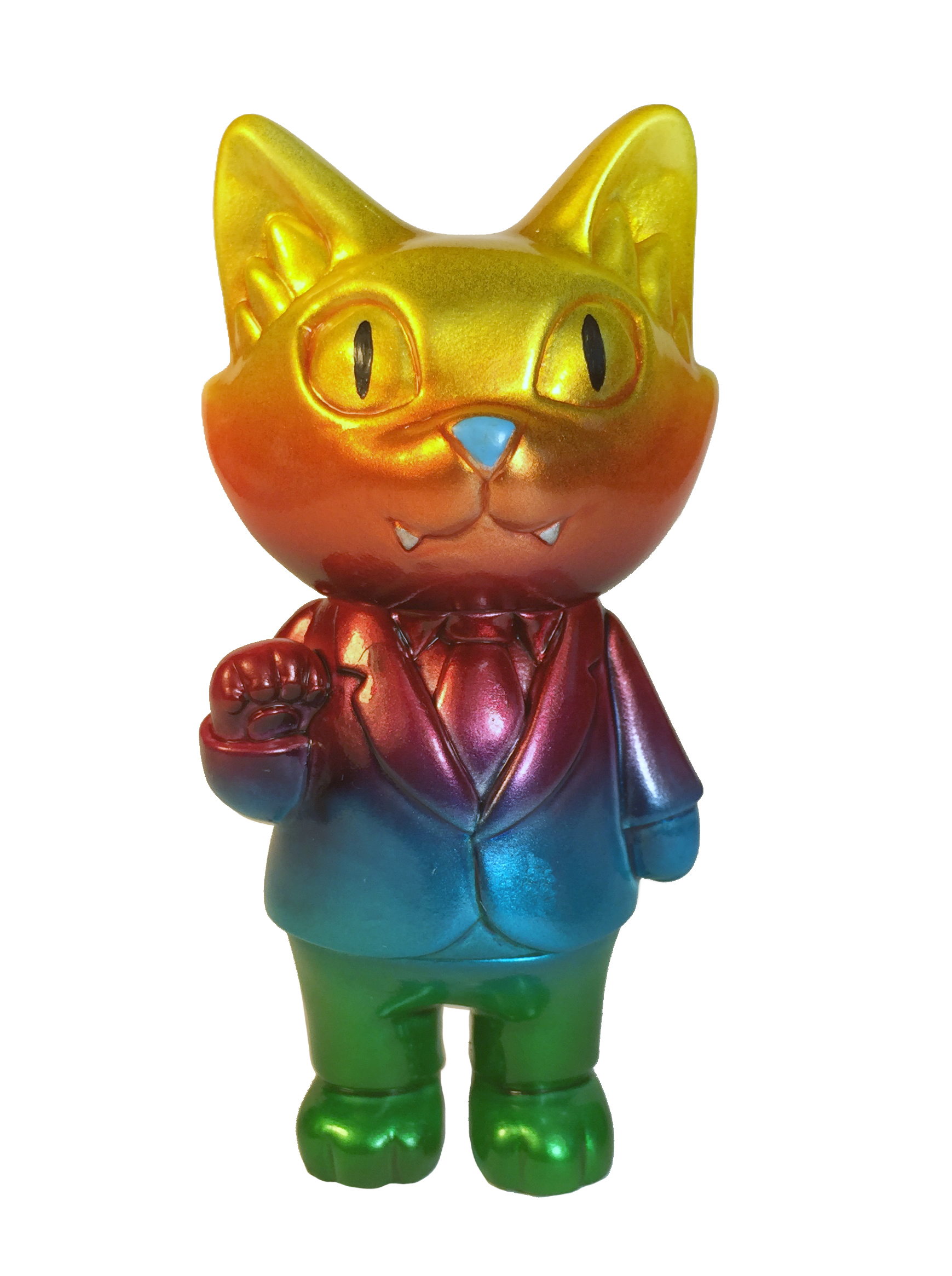 STS exclusive Rainbow Office Cat painted by Mark Nagata