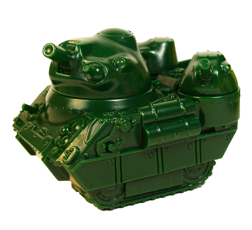 Kaiju Tank sofubi Dark Army Green version Max Toy x Monster Boogie