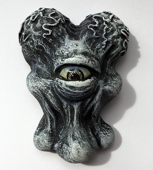 Alien Xam resin head custom Mark Nagata Black and White