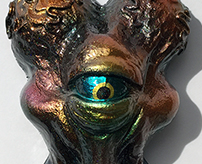 Alien Xam resin head custom Mark Nagata Metallic colors