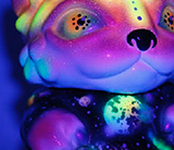 Chubz the Cat show Cosmic UV Chubz Zukaty custom