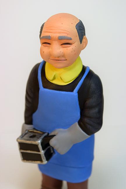 Custom Painted Sofubi-man Mark Nagata