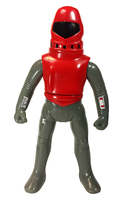 Super Cyborg Happy Toys hero soft vinyl metallic Red/Black paints