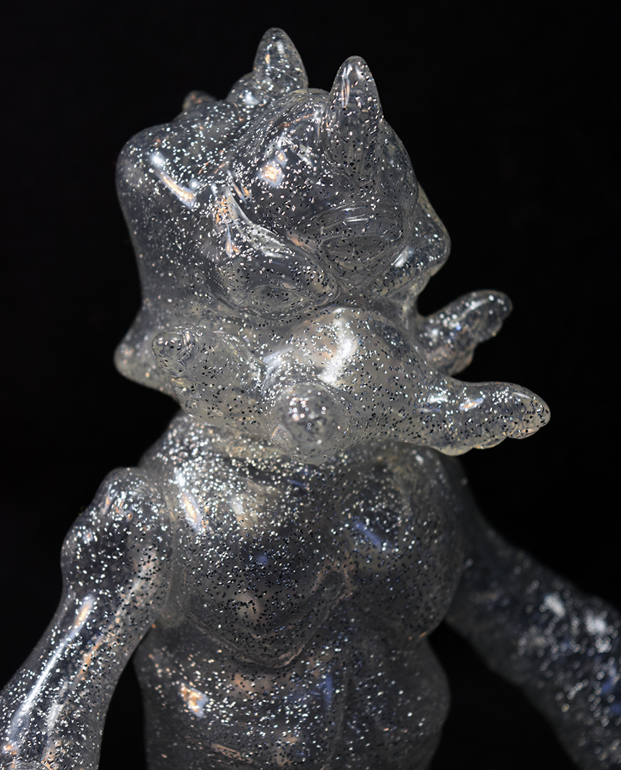 Clear Glitter Kaiju TriPasu unpainted