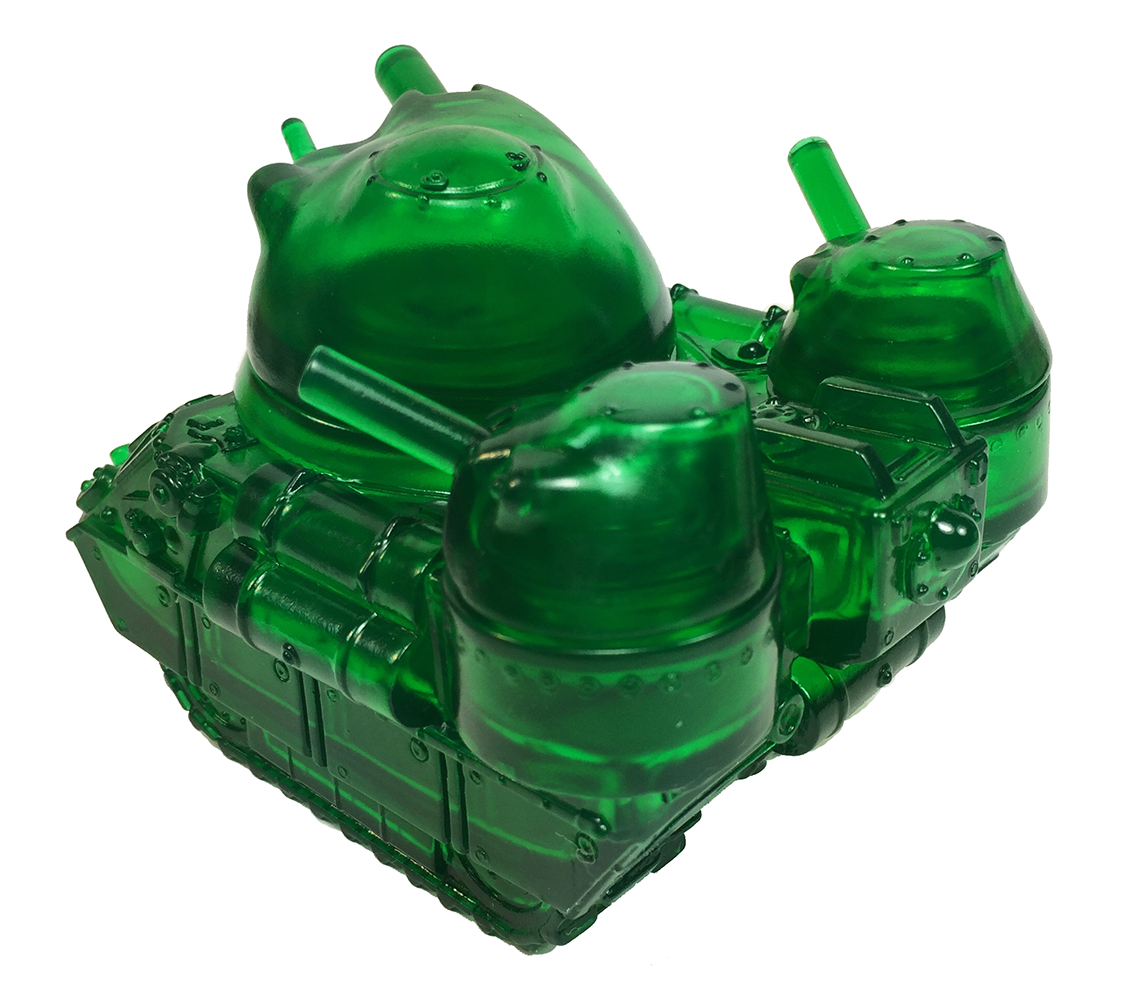 Clear Green Kaiju Army Tank