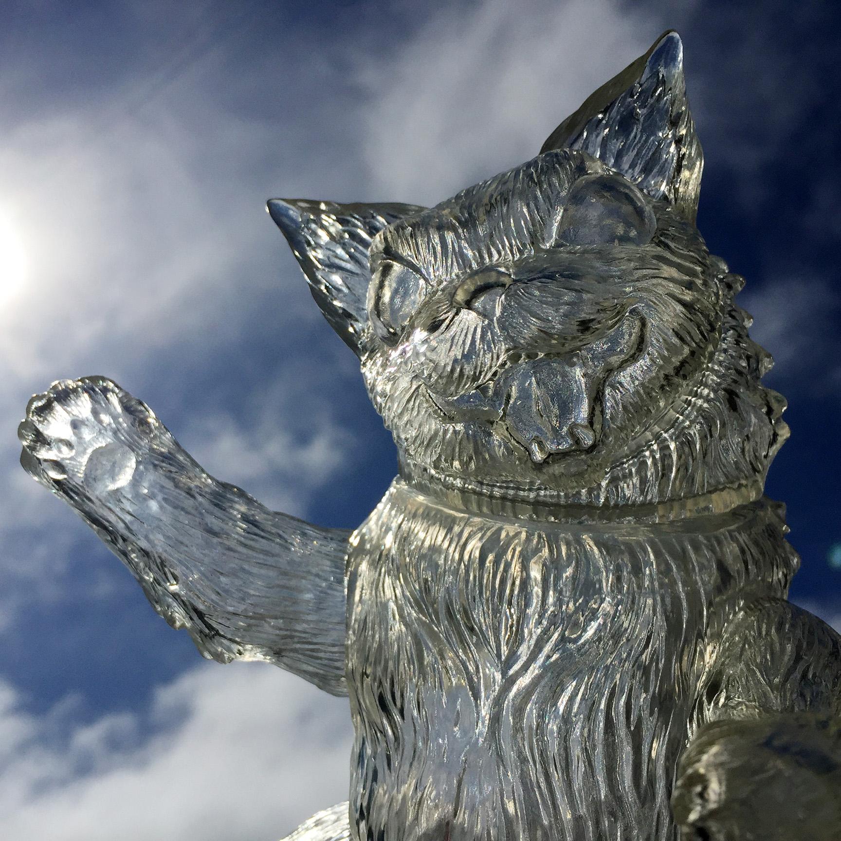 Clear unpainted King Negora sofubi Kaiju Cat Max Toy
