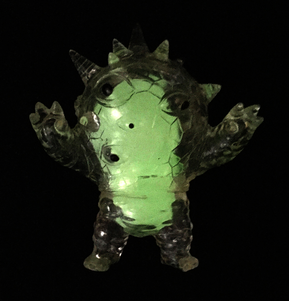 Clear Vinyl Kaiju Eyezon mini with Glow in Dark Guts