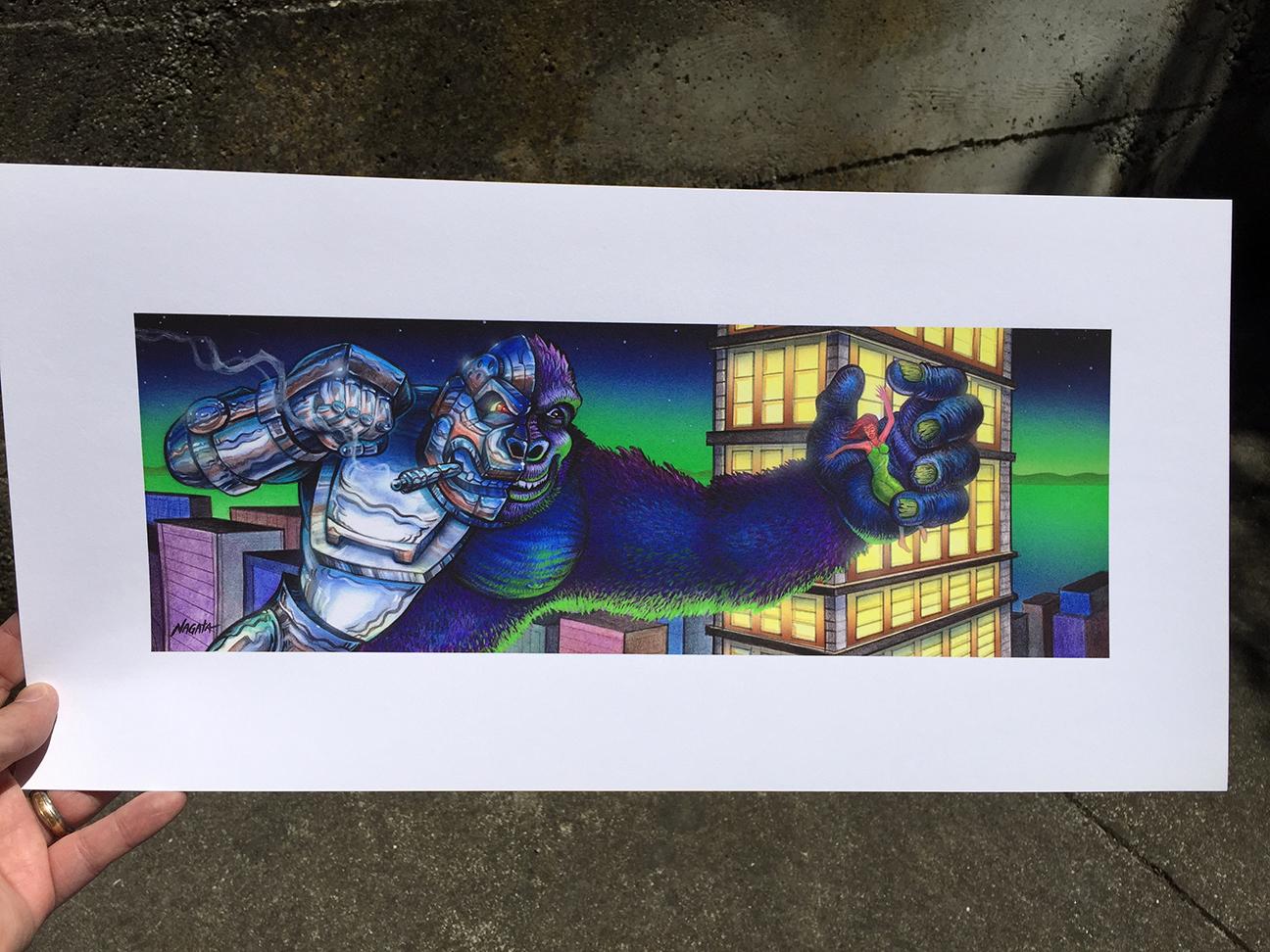 Crusher G Kaiju Robot Ape Giclee Mark Nagata