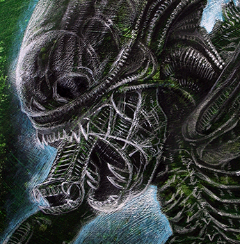 Alien Tribute giclee Mark Nagata