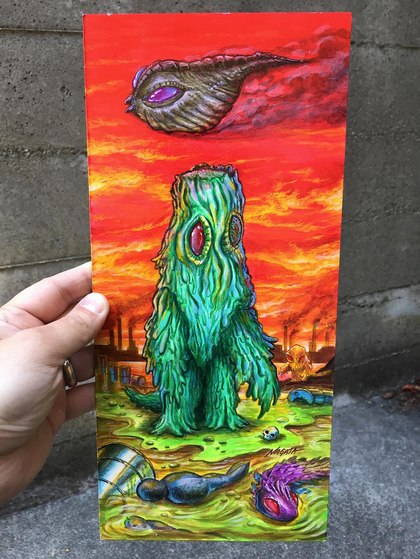 Hedorah CCP Max Toy Header card artwork Mark Nagata kaiju