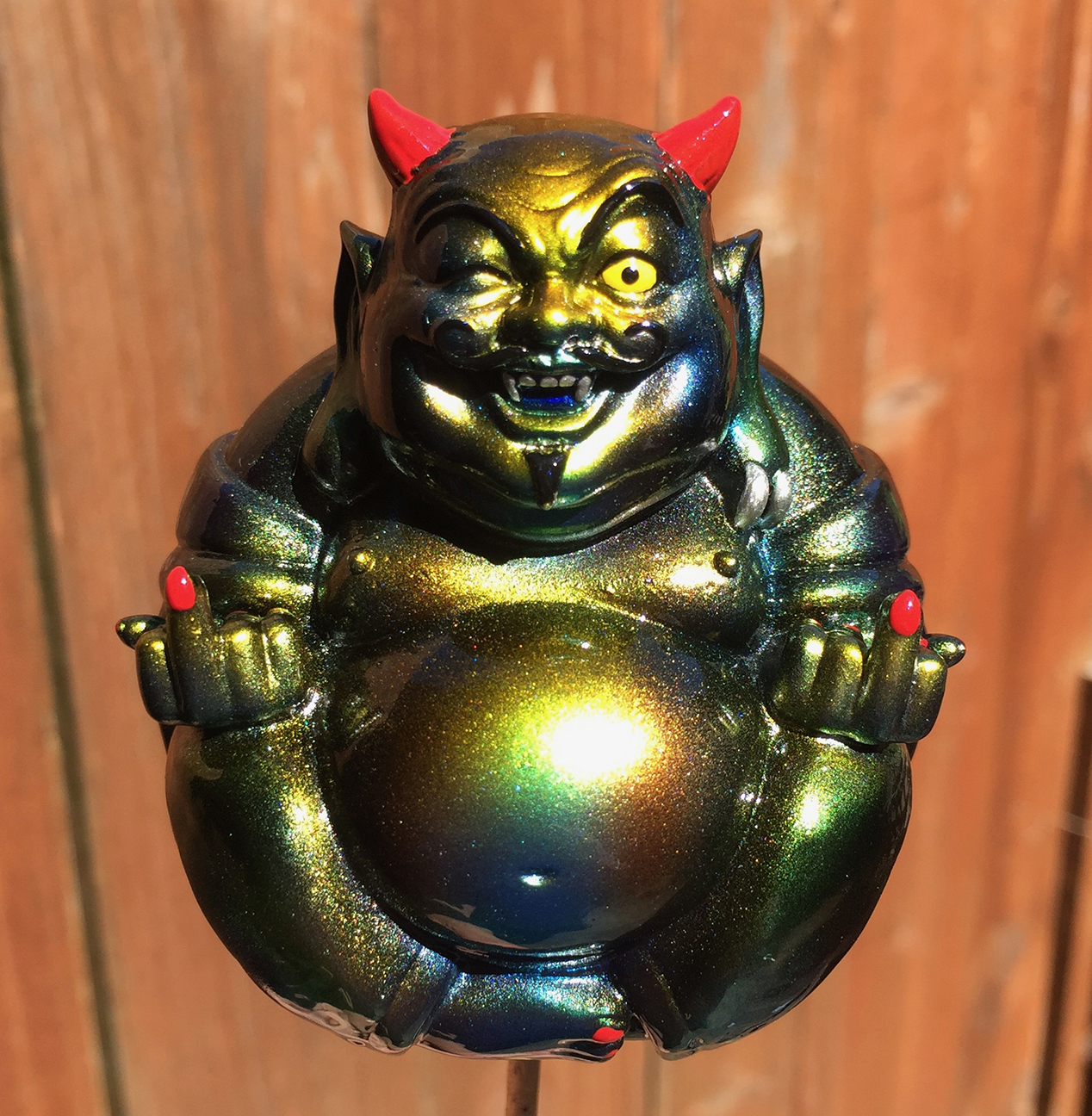 Planet X Asia Devil Buddha custom painted by Mark Nagata Red horns 2