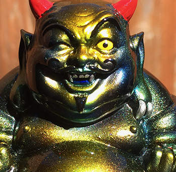 Planet X Asia Devil Buddha custom painted by Mark Nagata...