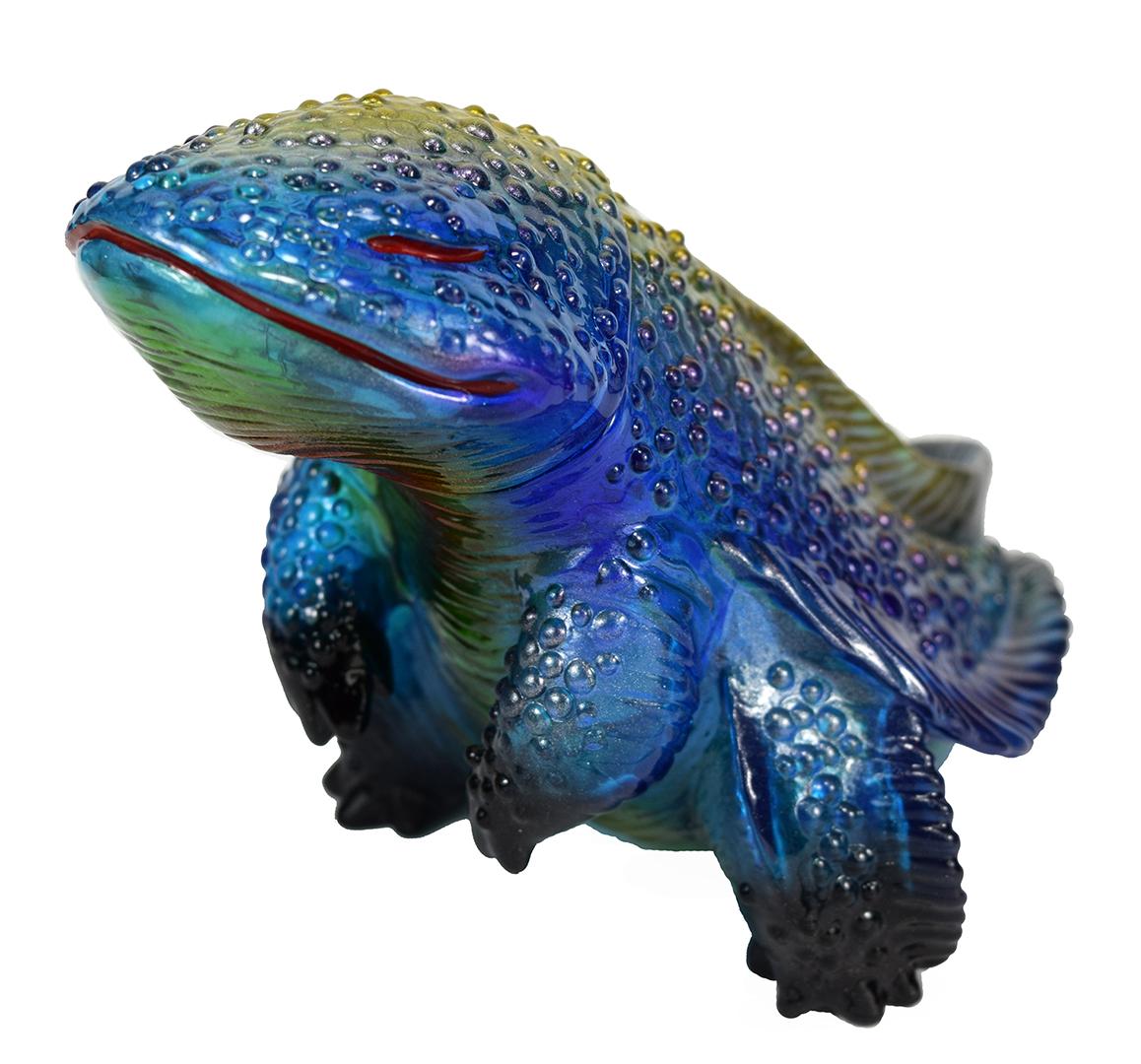 Custom Sillymander Clear Blue painted by Mark Nagata