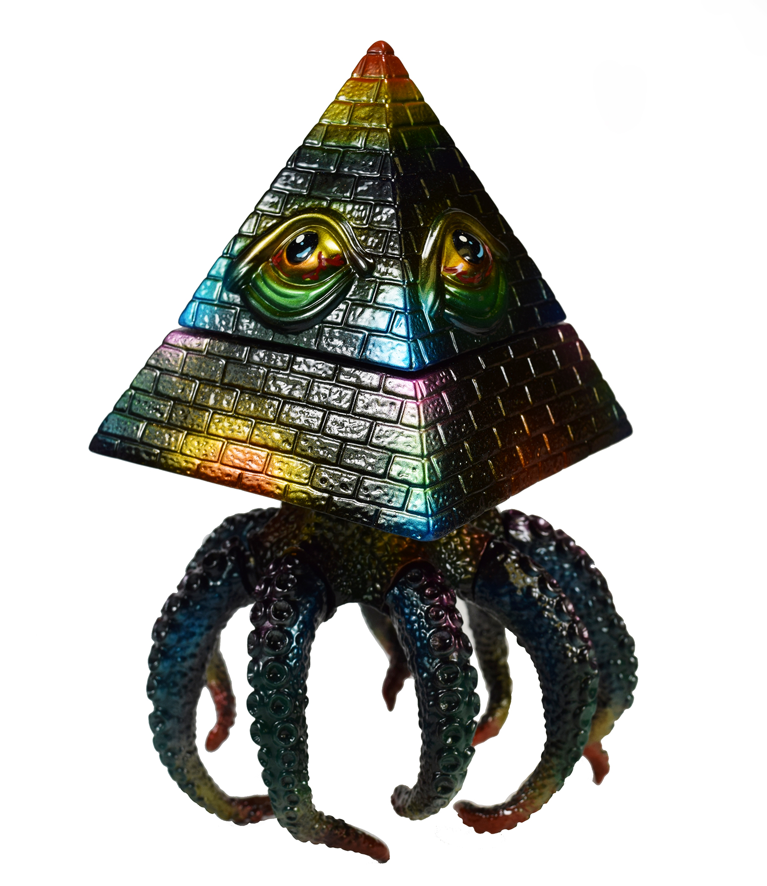 Custom painted ABYSS by Dabomb x Mark Nagata kaiju pyramid