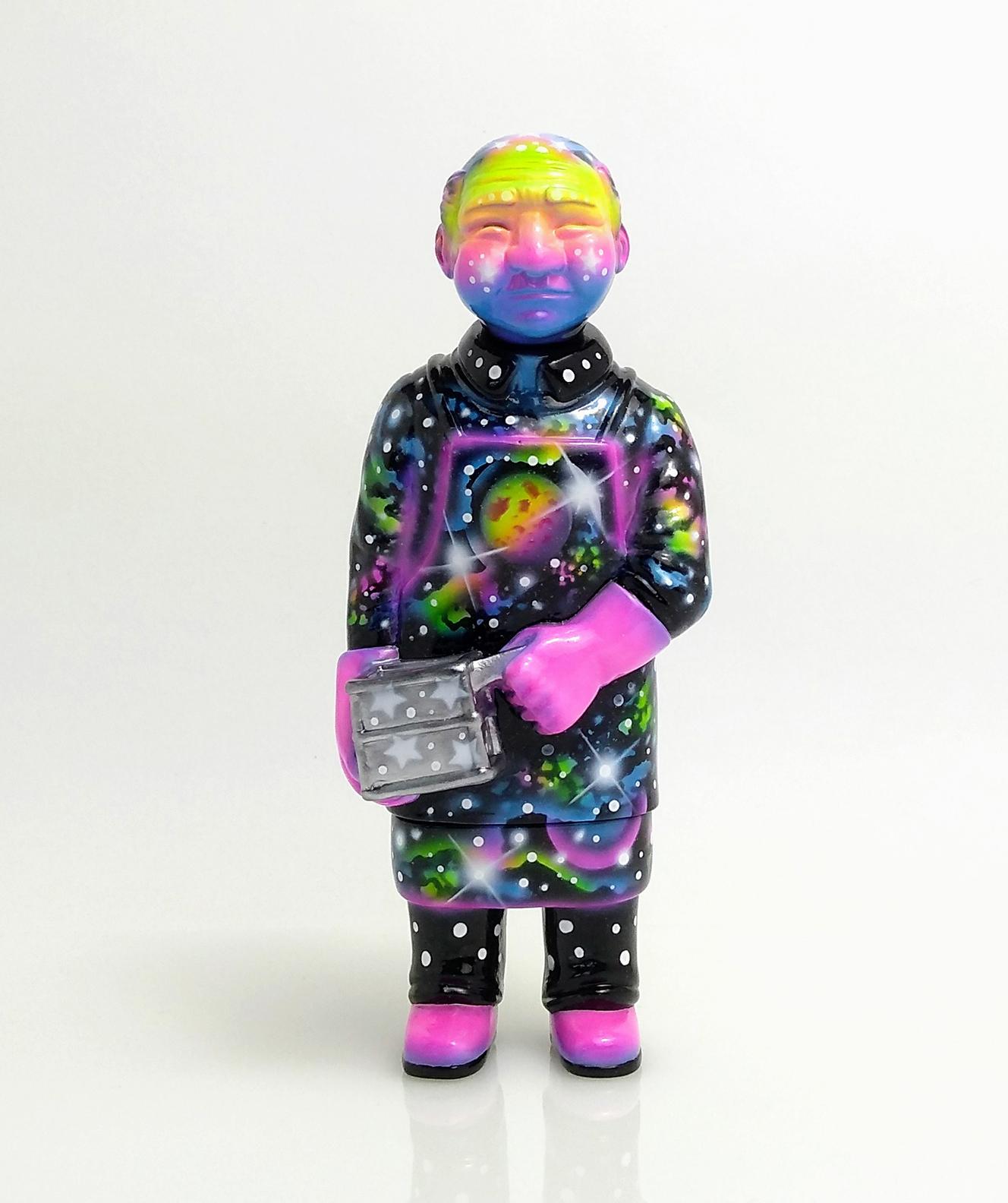 Sofubi-man Custom Show Zukaty Galactic Space style UV glows