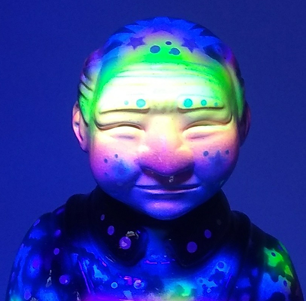 Sofubi-man Custom Show Zukaty Galactic Space style UV glows