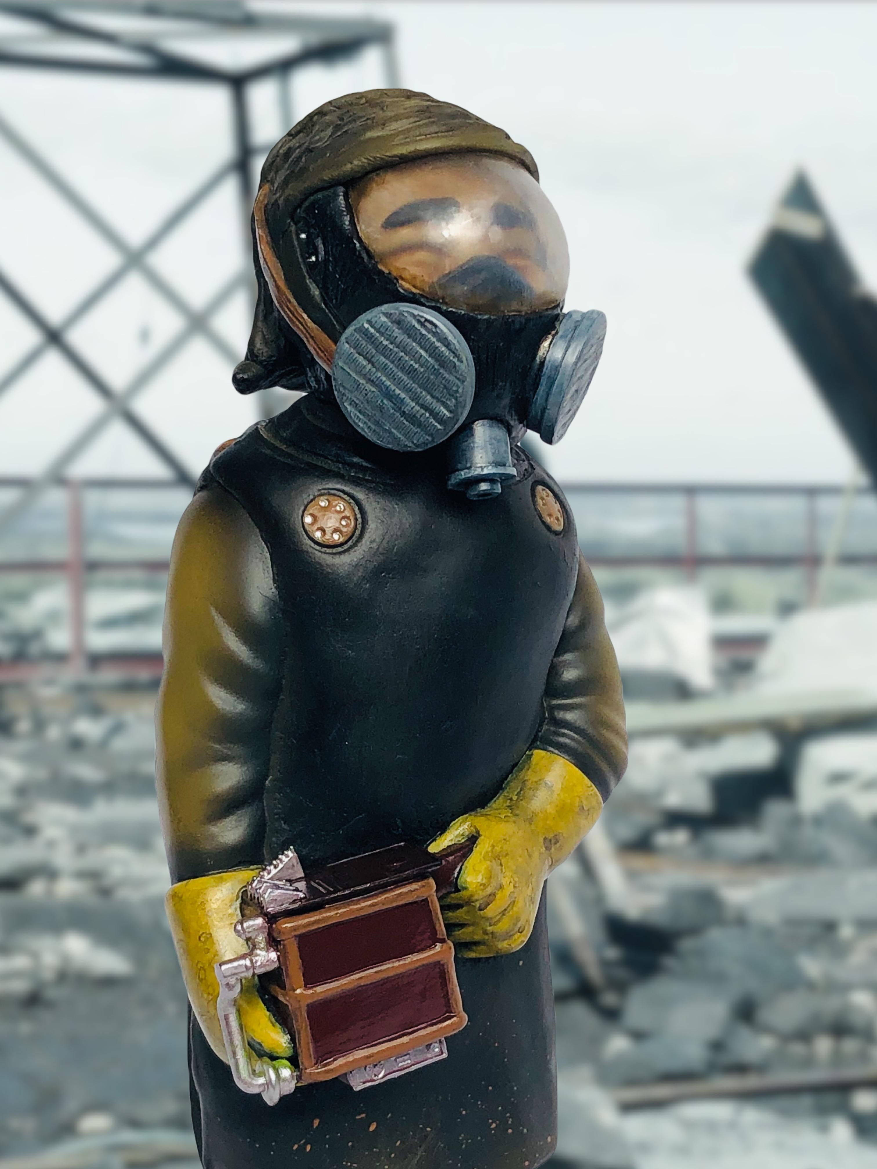 Sofubi-man Custom Show Miscreation Toys chernobyl radiation suit