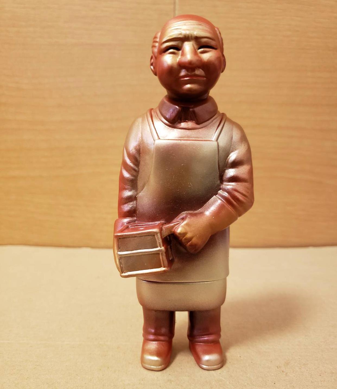 Sofubi-man Custom Show Mount Kobo Silver Idol custom