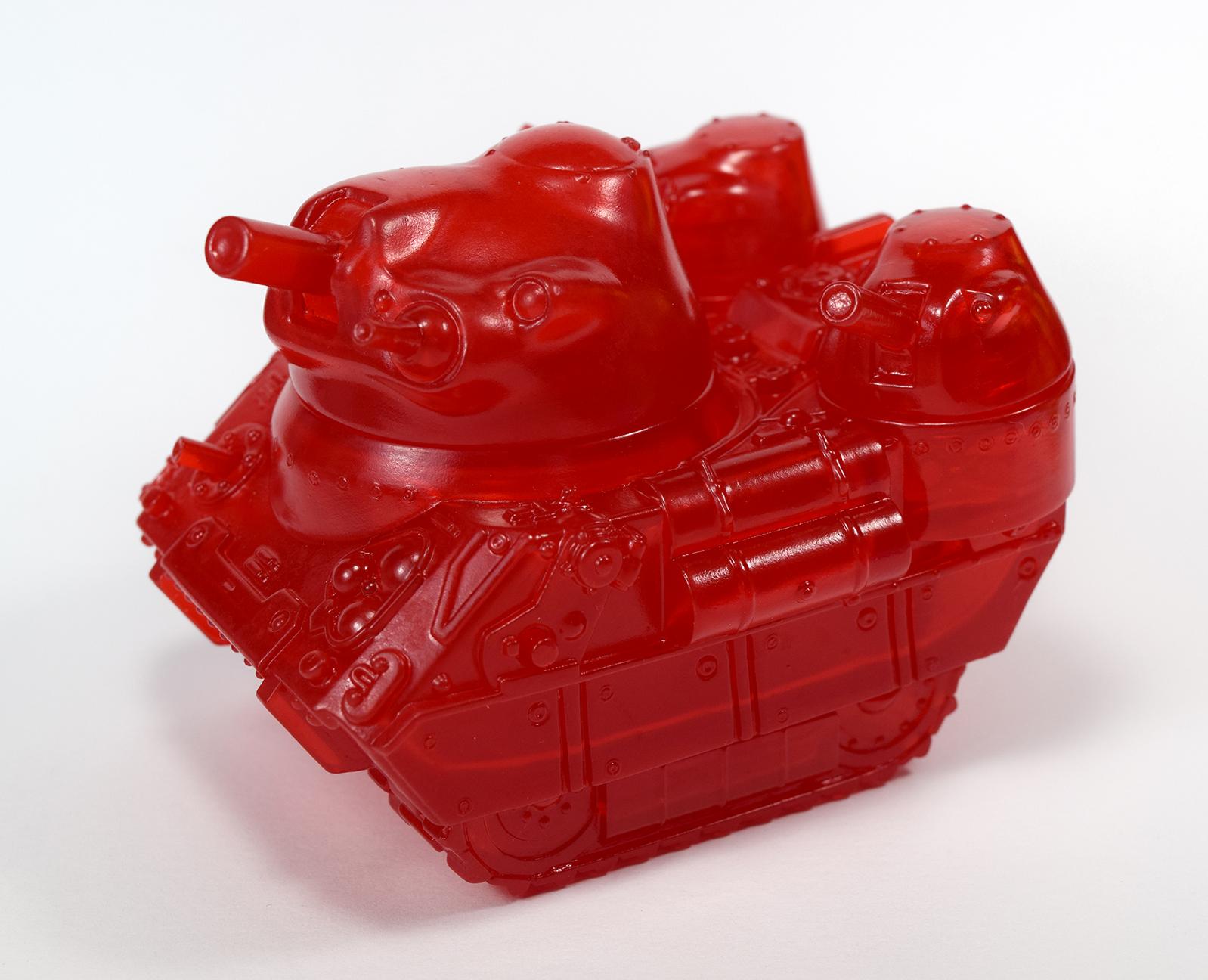 kaiju Tank sofubi clear Red version