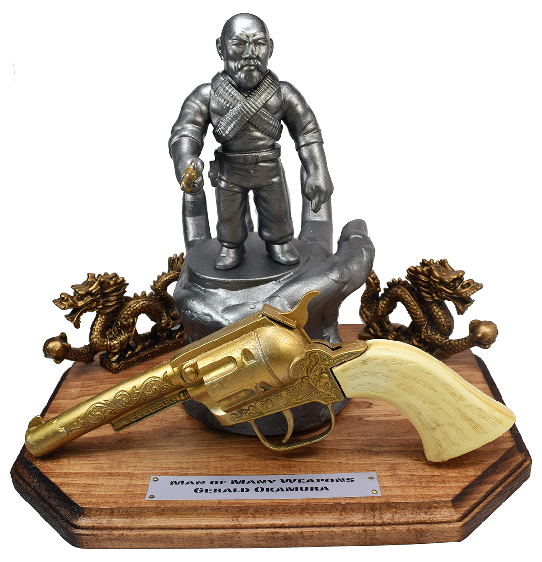 Man Of Many Weapons Gerald Okamura Fred Marinello Statue