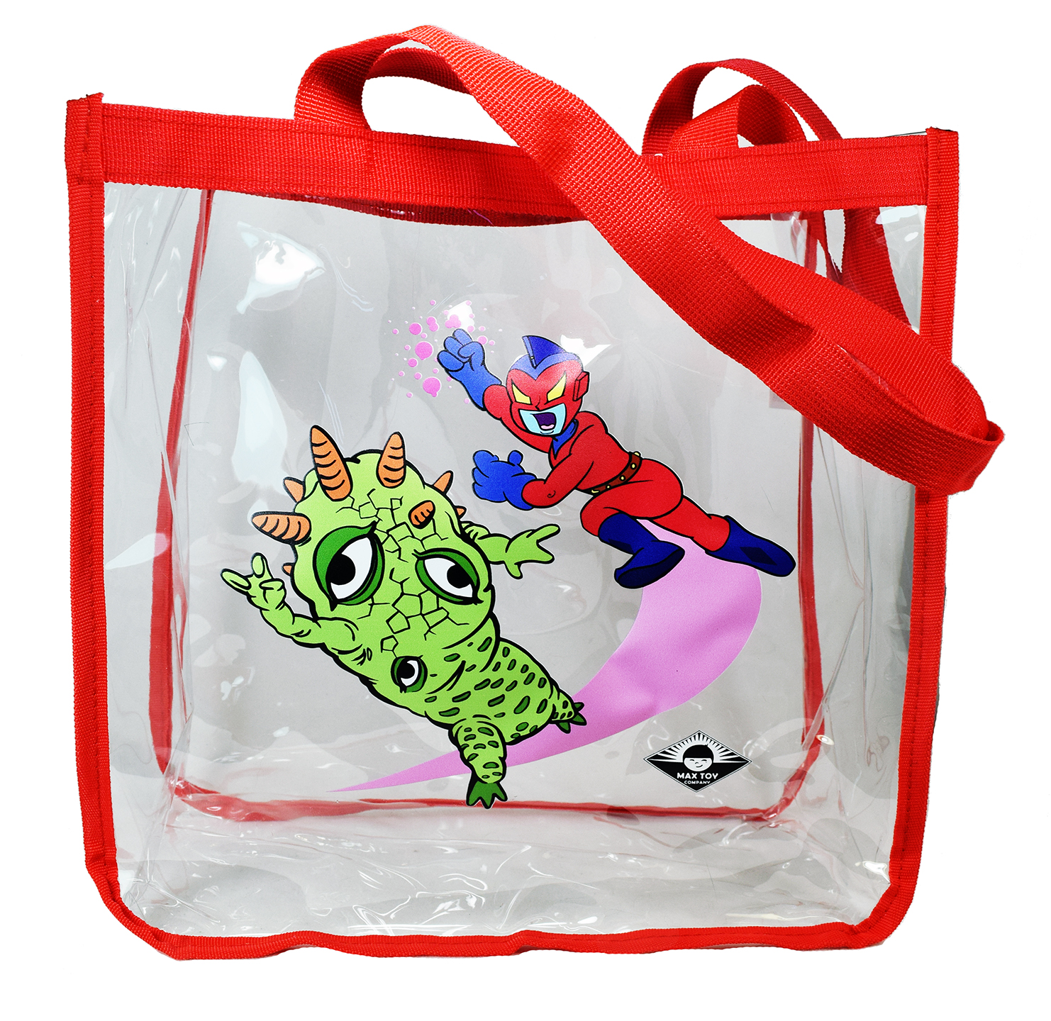 Clear Vinyl Max Toy Company shopping bag with handles Kaiju Eyezon