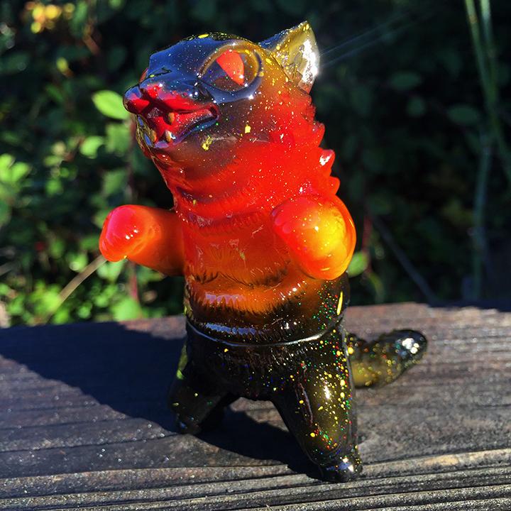 Max Nagata custom painted Mini Kaiju Negora Fire