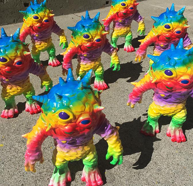 Taste the Rainbow Kaiju Eyezon Nagata paints